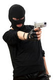 Criminal in black mask Stock Image