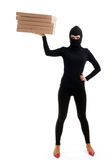 Criminal with boxes Stock Photography