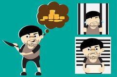 Criminal cartoon Stock Photography