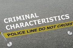 Criminal Characteristics concept Royalty Free Stock Photos