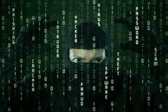 Criminal cibernético Fotos de archivo