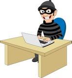 Criminal cibernético ilustración del vector