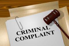 Criminal Complaint concept vector illustration
