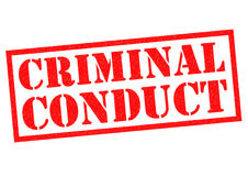 CRIMINAL CONDUCT Royalty Free Stock Images