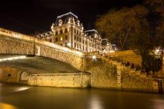 Criminal court Tribunal correctionnel, Paris, France. Historical building of Criminal court Tribunal correctionnel in Paris, France Stock Image
