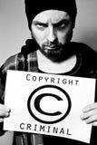 Criminal de los derechos reservados imagen de archivo libre de regalías