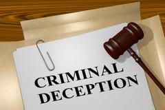 Criminal Deception - legal concept Stock Photography