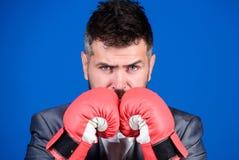 Criminal defense lawyer planning out strategies. Businessman wear boxing gloves. Best criminal defense lawyer strategies. Attack and defense concept. Achieve stock photos