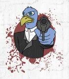 criminal del pájaro ilustración del vector