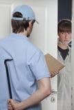 Criminal Delivery Man Stock Images