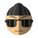 Criminal emoticon cartoon design. Illustration eps 10 Stock Photos