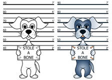 Criminal funny dog Stock Photos