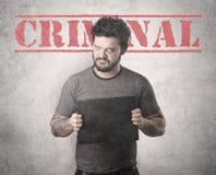 Criminal gangster. Stock Image