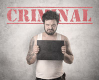 Criminal gangster man Stock Images