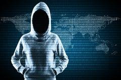 Criminal global y concepto del malware imagenes de archivo