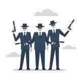 Criminal group of people, mafia bad guys Royalty Free Stock Photos