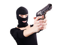Criminal with gun Stock Photography