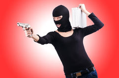 Criminal with gun Royalty Free Stock Photos
