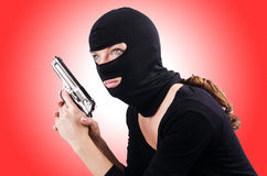 Criminal with gun Royalty Free Stock Images