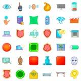 Criminal icons set, cartoon style. Criminal icons set. Cartoon style of 36 criminal vector icons for web isolated on white background Royalty Free Stock Photography