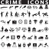 Criminal icons set. On white background with shadow Stock Photo