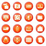 Criminal icons vector set Stock Photography