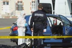 Criminal identification gendarmerie Stock Photo