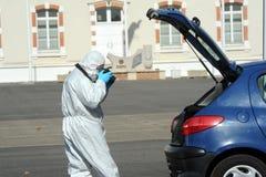Criminal identification gendarmerie Stock Photos