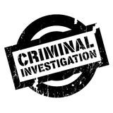 Criminal Investigation rubber stamp Stock Photos
