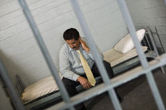 Criminal In Jail Royalty Free Stock Images