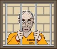 Criminal in Jail. Illustration clip-art Stock Images