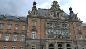 Criminal justice court Hamburg. Establishing shot of the Hamburg criminal justice court stock video