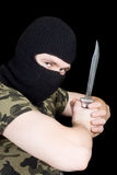 The criminal with a knife Stock Image