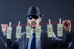 Criminal laundering  money Stock Image