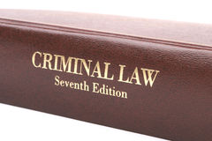 Criminal Law Book. Crim Law Book Stock Images
