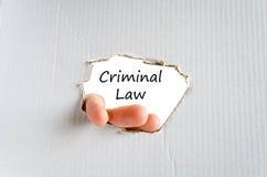 Criminal law text concept Royalty Free Stock Photos