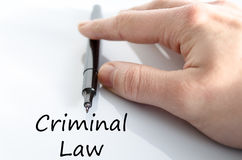 Criminal law text concept Royalty Free Stock Images
