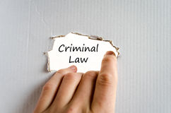 Criminal law text concept Royalty Free Stock Image