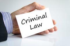 Criminal law text concept Stock Photos