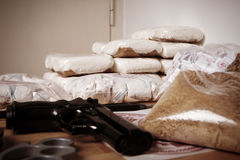Criminal life - drugs Royalty Free Stock Photography