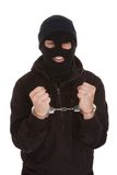 Criminal Locked In Handcuffs Royalty Free Stock Photography