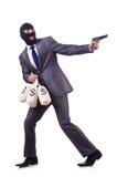 The criminal man on the white Stock Photos