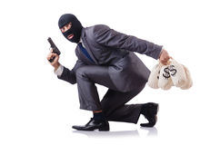 The criminal man on the white Stock Image
