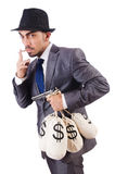 The criminal man on the white Royalty Free Stock Images