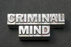 Criminal mind bm Royalty Free Stock Images