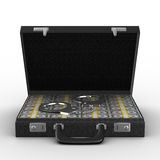 Criminal money in suitcase Stock Photo