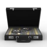 Criminal money in suitcase Stock Photo