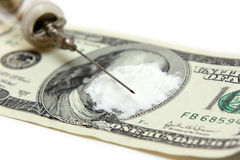 Criminal narcotic business concept Stock Photos