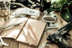 Criminal notes Royalty Free Stock Photo