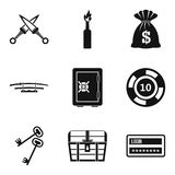 Criminal offence icons set, simple style Royalty Free Stock Photography